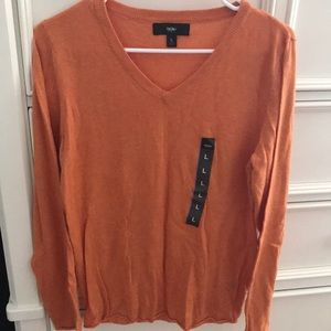 Mossimo Orange Vneck Sweater